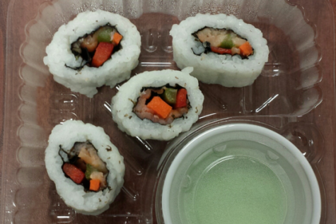 Sushi now on lunch menu