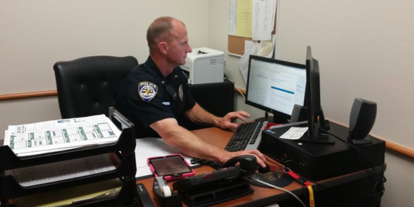 Spending the school year here on campus, school resource officer Jerry Varner is a full time Frisco Police Department officer.