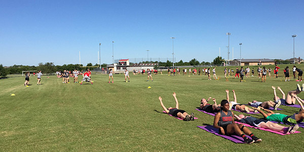 In the effort to change things up, first period athletic teams worked out together during off-season training.