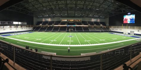 Varsity football visits the new Ford Center