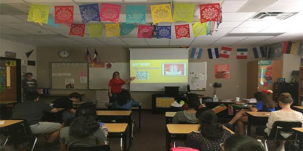 New teacher Marcela Vicente brings her knowledge of spanish to campus.