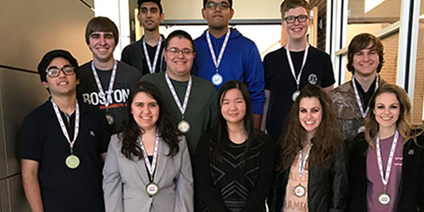 Six Redhawks who are a part of the CTE BPA program qualified directly or as an alternate for BPA state in Dallas March 1-4 including Rohith Perumalla (top left), Ryan Hall (top right), Nicholas Lovan, Catherine Yan, Akash Baskaran, and Manav Sood.