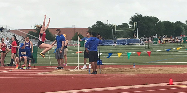 The track teams are competing at Standridge Stadium on Thursday in the area meet.