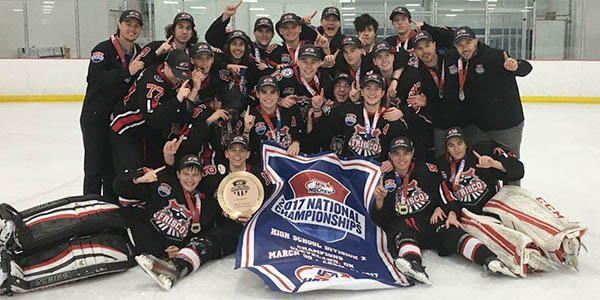 Featuring players from throughout the district, including five Redhawks, the Frisco Ice Hockey Association varsity team won the  2017 USA High School Hockey National Championship Monday.