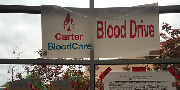 HOSA students will be helping Carter BloodCare with the management of Thursday's blood drive. Students interested in donating can sign-up on the sheet located in the rotunda.