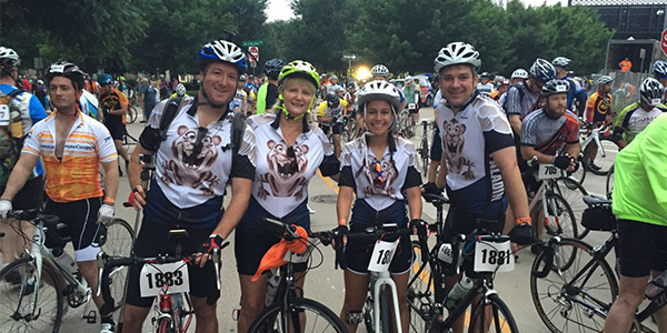 Freshman Yaeli Even (3rd from left) has been cycling since elementary school.