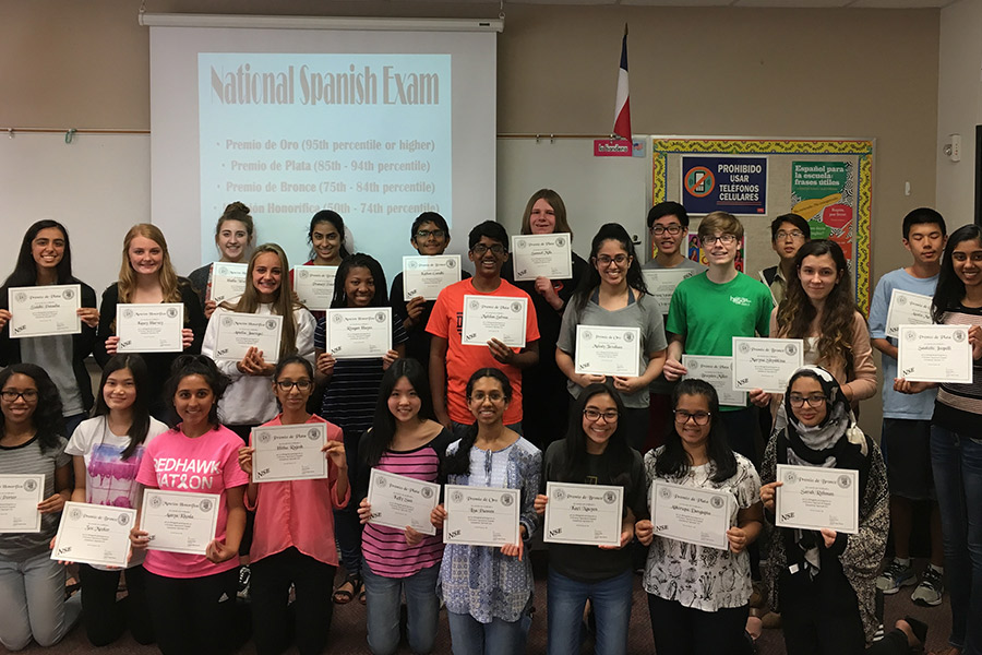More+than+40+students+on+campus+received+recognition+for+their+scores+on+the+National+Spanish+Exam.