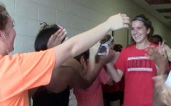 Track and field athletes leave for state meet