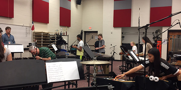 The percussion program as well as the Vandeventer percussion program will present its free concert, Rhythm Flight, Thursday at 7 p.m. in the auditorium.