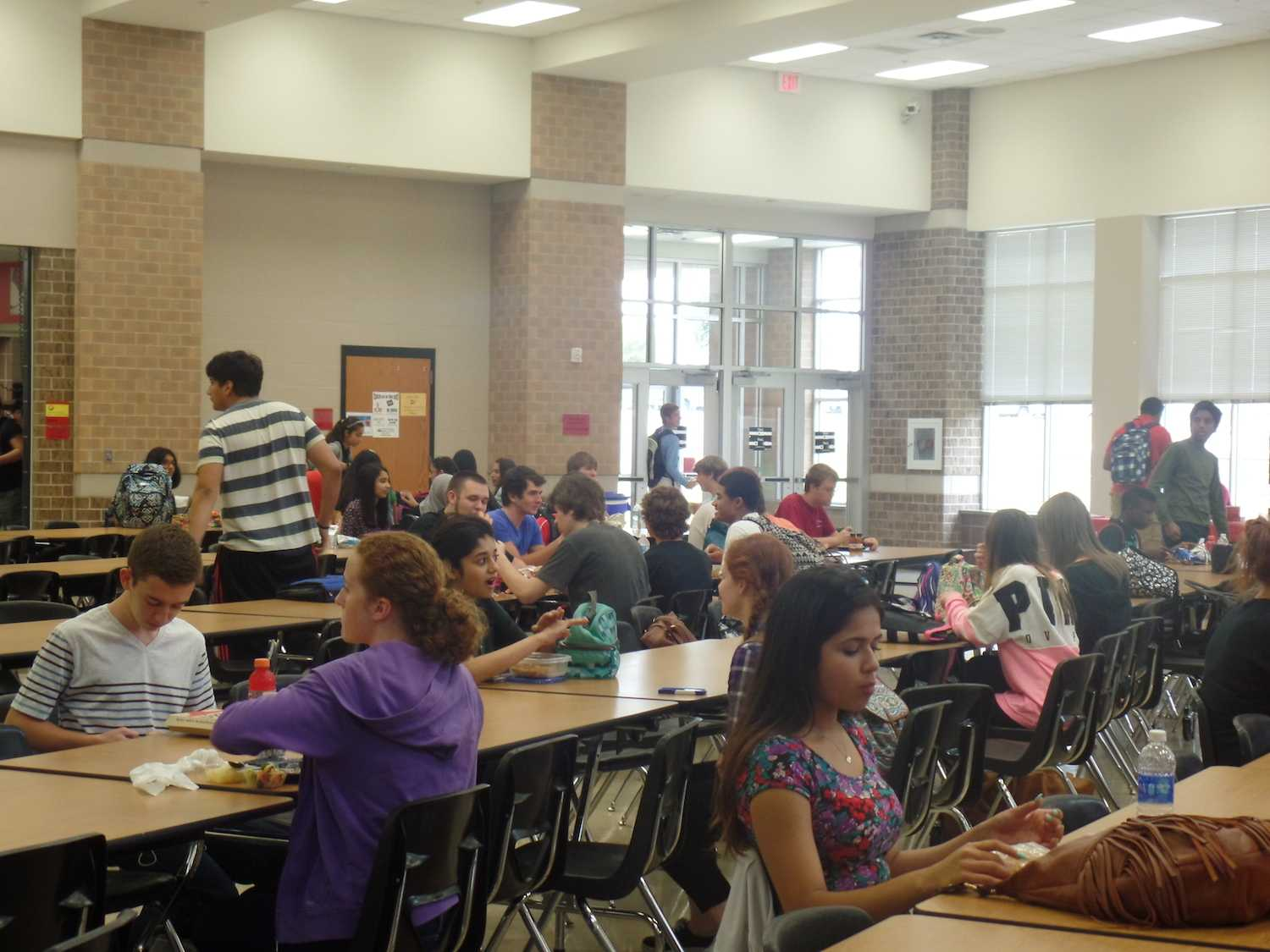 Freshmen students have used lunches as opportunities to make new friends and connect with peers.