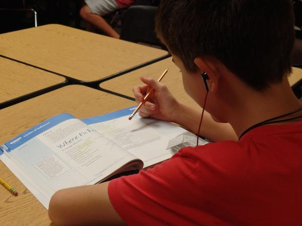Students often listen to music during class and while completing homework.