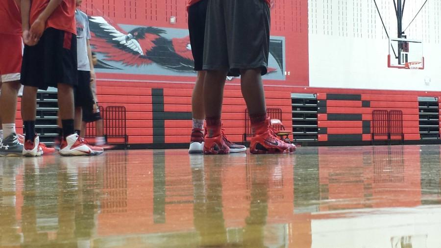 It's OK for basketball or volleyball players to wear their shoes in the gym, but students are being asked to leave their shoes behind when Saturday's homecoming dance takes place in the gym.
