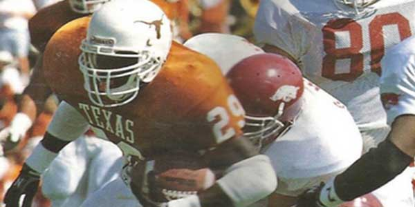 One of the top running backs in the history of UT football, assistant principal Phil Brown is the 16th best leading rusher in UT history finishing his career with 2,322 yards rushing.