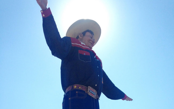 Welcoming visitors to the State Fair, Big Tex is a can't miss sight that FFA students will see as part of their trip to the State Fair on Tuesday.