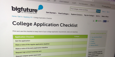 College applications sound more like checklists