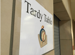 Tardy table makes students late