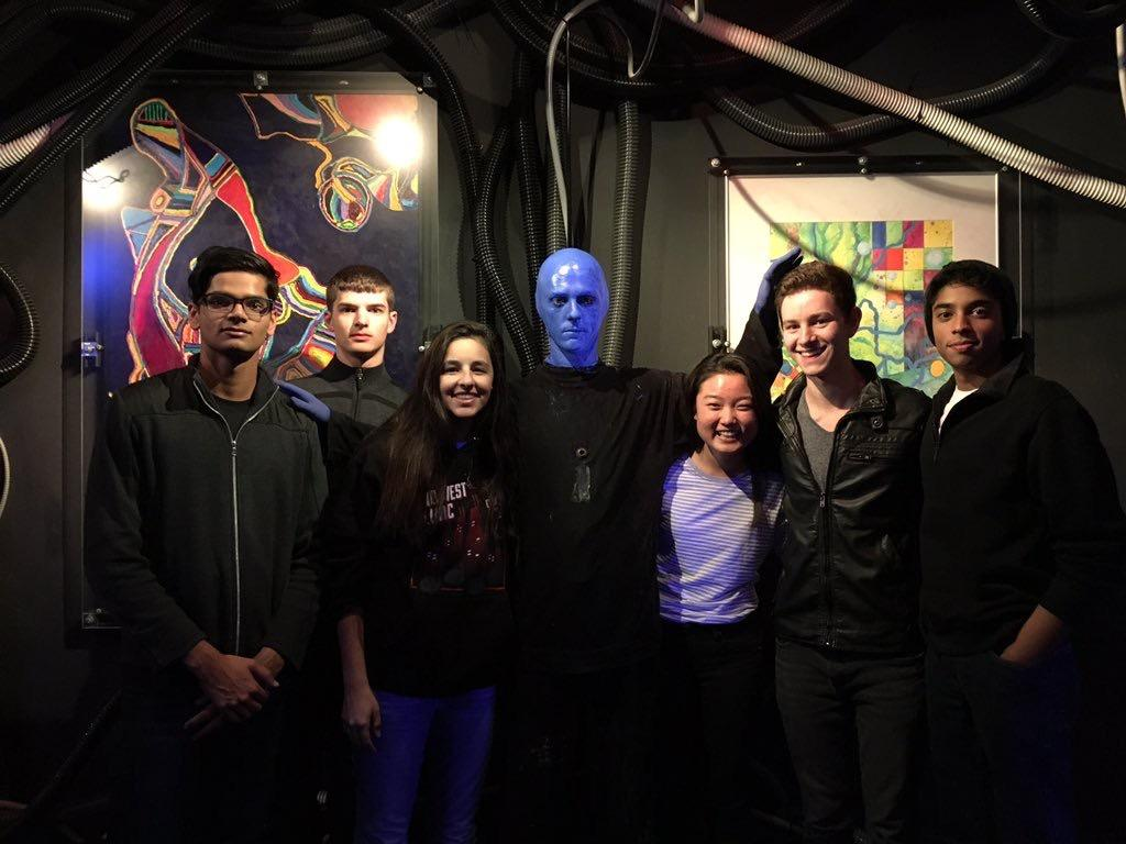 On+Wednesday+night%2C+students+attended+a+concert+performance+by+the+Blue+Man+Group+at+Briar+Street+Theater.