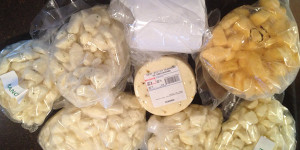 Besides picking up hundreds of pounds of beef, the Nolden family also stopped at a cheese factory to pick up some Wisconsin cheese.