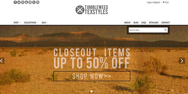 Record sales on sites such as Tumbleweed Texstyles helped make Cyber Monday a success for many companies.