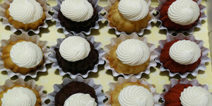 Personal bundt cakes are one of the featured items at Nothing Bundt Cakes.