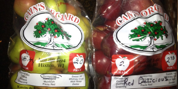 While a family fish fry and some fresh beef were perhaps the primary reasons for driving to Wisconsin, the Nolden family also brought home some farm fresh apples.