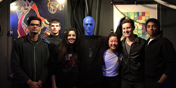 Orchestra students were able to do more than simply perform in Chicago as they also attended a concert performance by the Blue Man Group at Briar Street Theater after their performance at Midwest Clinic on Dec. 16, 2015.