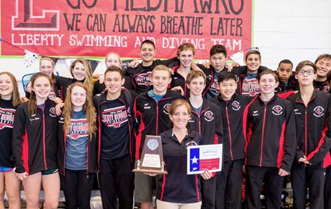 Boys' swim team finishes second at District
