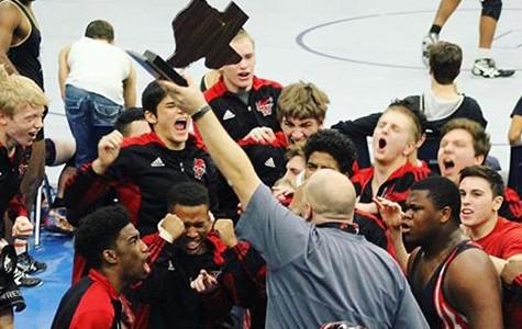 Boys' wrestling wins State Dual Championship
