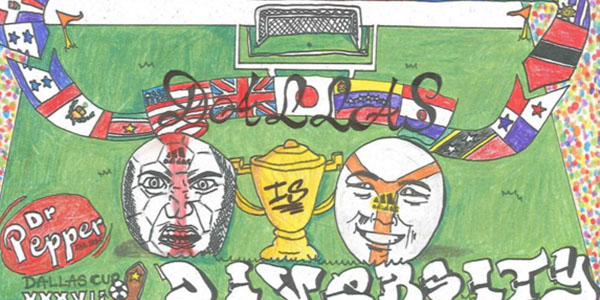 Senior Jordan Hamilton's work from 2015 is the featured art for November 2016 in the Dallas Cup Dallas is Diversity calendar.