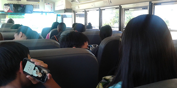 Finding peace and quiet on a bus ride to or from school can be quite the challenge writes guest columnist Dea-Mallika Divi.