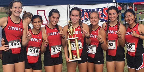 After wet weather led to the cancelation of the FISD Invitational cross country meet, the girls' team ran in the Plano Invitational on Saturday and scored its first meet win of the year.