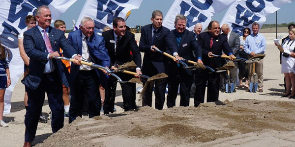 Stephen Jones and other dignitaries at the official groundbreaking for The Star. The partnership between the Dallas Cowboys, the City of Frisco and the Frisco ISD is unique in the sports world.