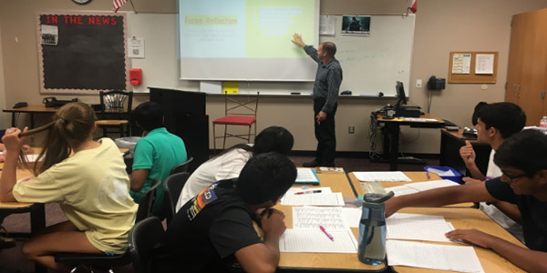 English teacher and soccer coach John Singleton is in his first year teaching on campus.