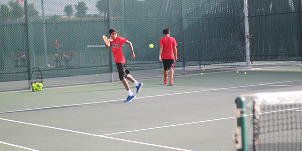 Tennis swings into their season, including Senior Sohum Shah, in hopes of pushing forward for a succesful season. The team practices during the day, in hopes of bettering themselves for future competitions.