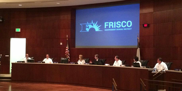 The Frisco ISD Board of Trustees will host a public board meeting to receive feedback from community members regarding zoning modifications for the 2017-2018 school year.