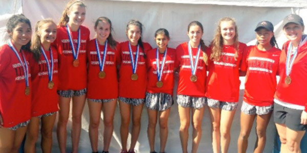 After winning the District 13-5A meet and finishing second at the regional meet, the girls' cross country team finished in 3rd place at the state meet.