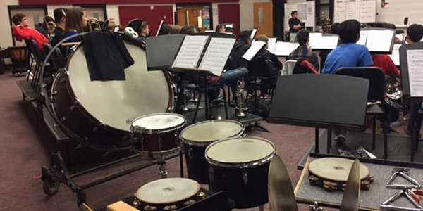 Students spent Friday  rehearsing with their respective region bands before the various concerts that night.
