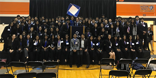 DECA took part in the  District Career Development Conference competition at Haltom High School in January and sent 73 of 90 competitors to state. From there 24 students advanced to this weekends international conference in Anaheim.