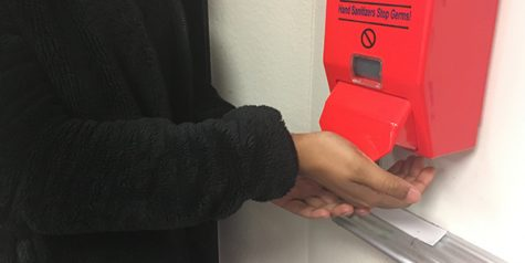 Spring break sanitizer switch