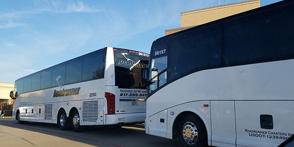 Orchestra students are taking two charter busses to Orlando, Florida.