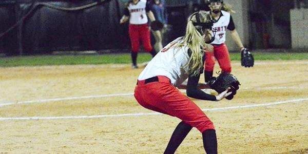 Junior Halle Birckelbaw has been on the varsity team all three years that she's been at the school as a third baseman.
