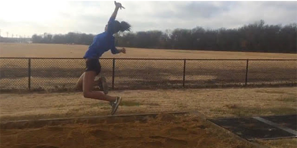 For the past eight years, junior Sanye Ford has held a love for track that has carried over into high school career, taking part in long jump.