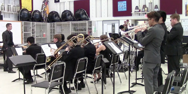 Five members of the school's jazz program qualified for a All-Region jazz ensemble Wednesday at Plano West High School.