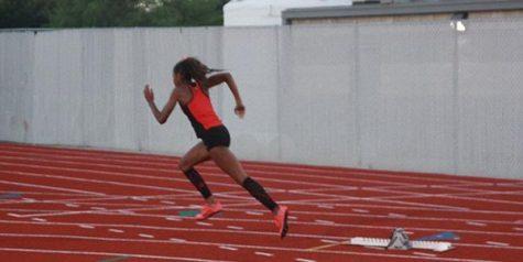 Running Redhawks racing at Texas Relays