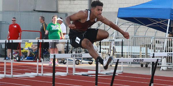 Junior Christian Palmer placed 5th in the 100 meter hurdles, a 2nd in the 300 meter hurdles.