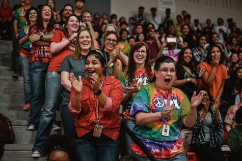First pep rally features decades of dancing