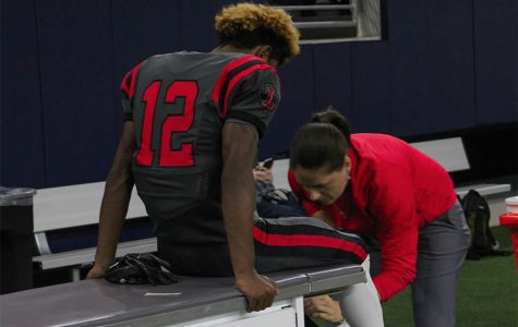 When a student athlete is hurt, they usually can go see the trainer anytime during their respected hours, get the help they need, and then continue on with their practice. But due to COVID-19, more safety measure are being taken this year, such as signing in and out, wearing masks, evaluations, and more.