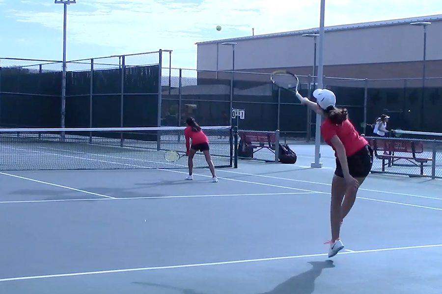 Taking to the court for one of the final times this year, the tennis team competed in the District 13-5A tournament Tuesday and Wednesday.