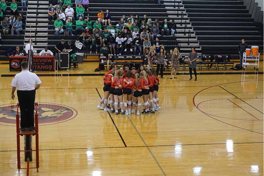 The volleyball team started the opening round of the playoffs against Lake Dallas, finishing 3-0 to see the team advance to the second round for the first time in four years.