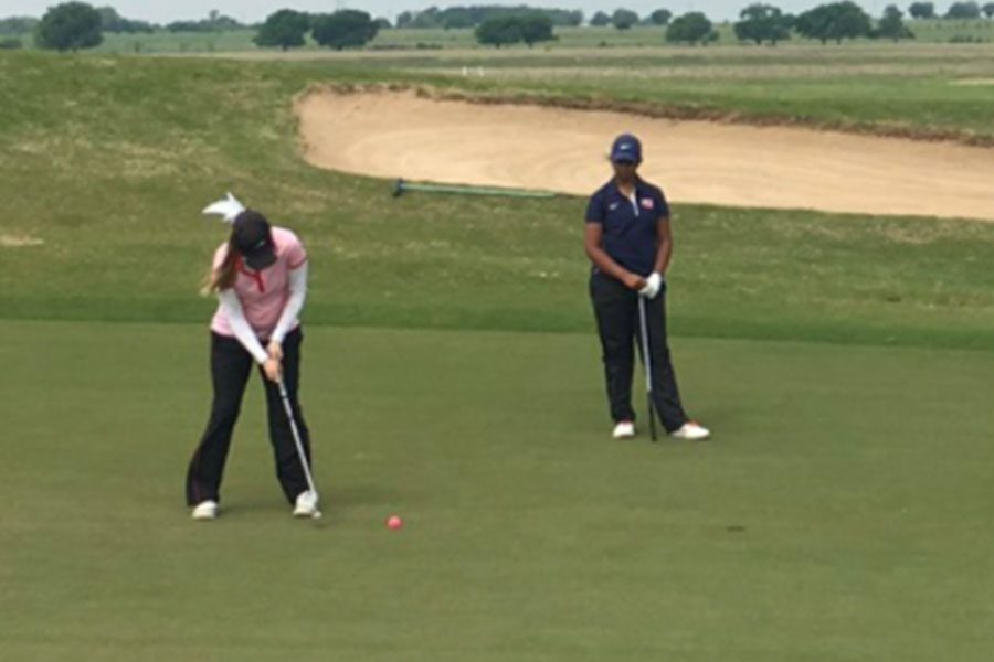 Senior+McGarrh+is+a+member+of+the+girls%27+varsity+golf+team.